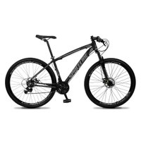 Bicicleta Vega Aro 29 Quadro 15 Câmbio Tras. Shimano 21v Freio Mecânico Preto Cinza - Spaceline