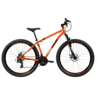 Bicicleta MTB Caloi Two Niner Alloy Aro 29 - Sunrun - 21 Velocidades - Laranja