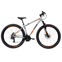 Bicicleta MTB Caloi Two Niner Alloy Aro 29 - Sunrun - 21 Velocidades - Prata
