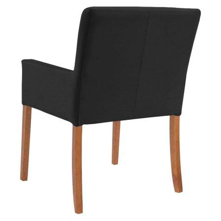 Mesa de Jogos Carteado Victoria Redonda Tampo Reversível Amêndoa com Kit 4 Cadeiras Vicenza Preto Fosco - Gran Belo