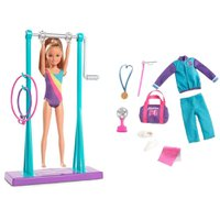 Barbie Stace Ginasta Boneca e Playset - Mattel