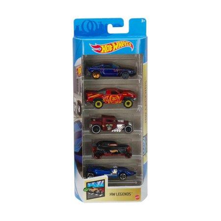 Hot Wheels HW Legends Pack com 5 Carrinhos - Mattel
