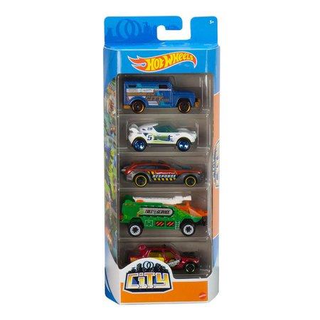 Hot Wheels City Pack Com 5 Carrinhos - Mattel