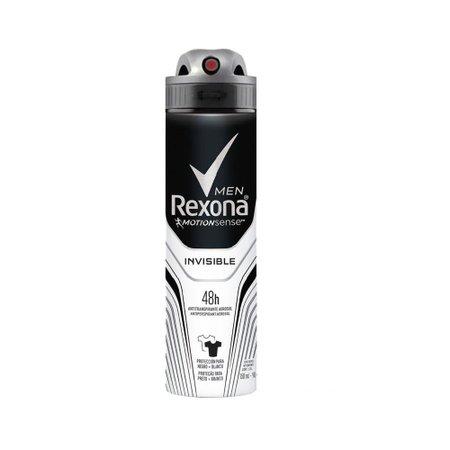 Desodorante Antitranspirante Aerosol Masculino Rexona Invisible 72 horas 150ml