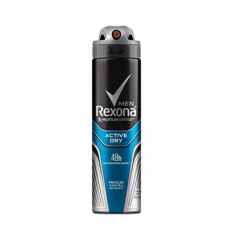 Desodorante Antitranspirante Aerosol Masculino Rexona Active Dry 72 horas 150ml