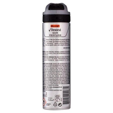 Desodorante Antitranspirante Aerosol Masculino Rexona Sem Perfume 72 horas 150ml