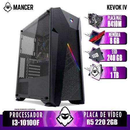 Computador Intel I3-10100F, H410M, R5 220 2GB, 8GB, HD 1TB + SSD 240GB, 400W, Kronen