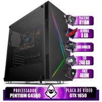 Computador intel G4560, H110M, GTX 1650 4GB, 8GB, SSD 240GB, 400W
