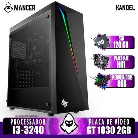 Computador intel i3-3240 + Cooler Alten, TGT H61, GT 1030 2GB, 8GB, SSD 120GB, 500W