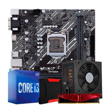 Kit Upgrade PLUS, Intel i3-10100F + H410M + 8GB DDR4 + SSD 240GB + 500W