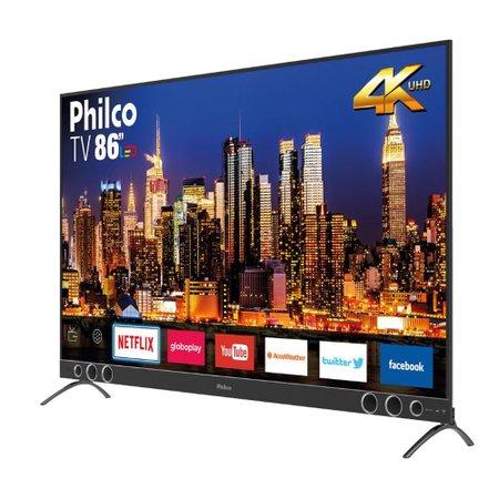 "Smart TV Philco 86"" 4K SB LED PTV86P50SNSG - Netflix"