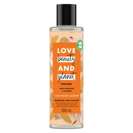 Shampoo Love Beauty and Planet Crescimento Saudável Frasco 300ml