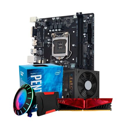 Kit Upgrade PLUS, Intel PENTIUM G4560 + Cooler F50 + H110M + 8GB DDR4 + SSD 240GB + 500W