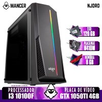 PC Gamer Mancer, Intel I3 10100F, GTX 1050Ti 4GB, 8GB DDR4, SSD 120GB, 400W