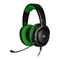 Headset Gamer Corsair HS35 Stereo XONE/PC/Mobile Preto/Verde Drivers 50mm, CA-9011197-NA