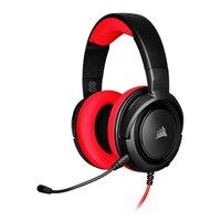 Headset Gamer Corsair HS35 Stereo Switch/PC/Mobile Preto/Vermelho Drivers 50mm, CA-9011198-NA