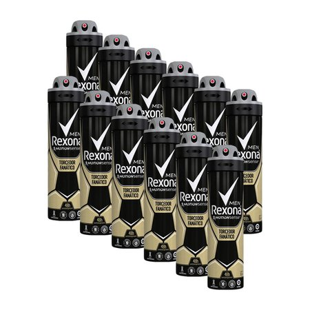Kit 12 Desodorante Rexona Men Motionsense Torcedor Fanático 150ml