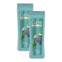 Kit 2 Shampoos Anticaspa Clear Detox Diário 200ml