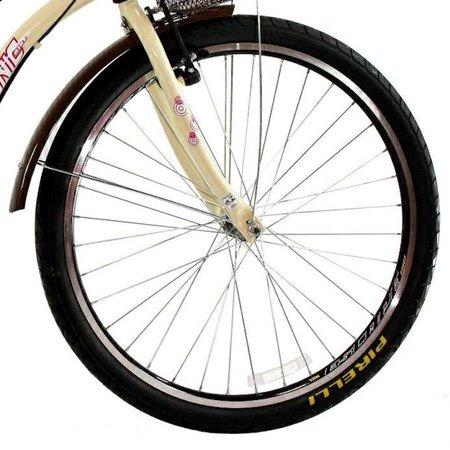 Bicicleta Retrô Vintage Aro 26 18v Feminina Beach Bege