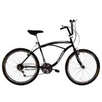Bicicleta Masculina Aro 26 com 18 marchas Beach Preto