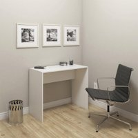 Mesa Escrivaninha Escritório Home Office Organizadora Branca