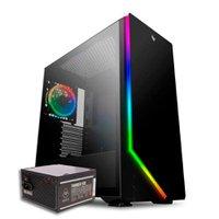 Kit Gabinete Pichau Archangel X RGB + Fonte Mancer Thunder 500W