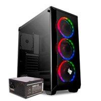 Kit Gabinete Pichau Rostock RGB + Fonte Mancer Thunder 500W