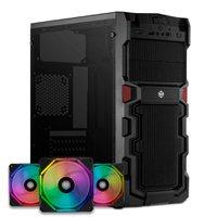 Kit Gabinete TGT Stryker + Kit Ventoinhas Wave RGB 3x + Controladora