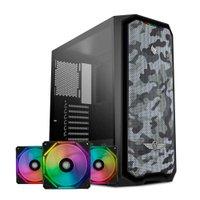 Kit Gabinete Pichau Gadit X RTB + Kit Ventoinhas Wave RGB 3x + Controladora