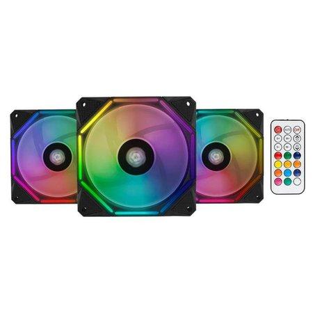 Kit Gabinete Kronen RGB + Kit Ventoinhas Wave RGB 3x + Controladora