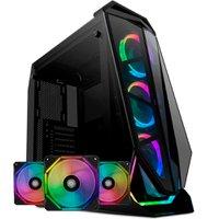 Kit Gabinete Pichau Seraph E RGB + Kit Ventoinhas Wave RGB 3x + Controladora