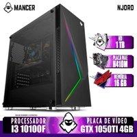 PC Computador Gamer Intel I3 10100F, GTX 1050Ti 4GB, 16GB DDR4, HD 1TB, 400W