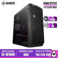 PC Computador intel i3-10100F, H410M, R5 220 2GB, 8GB, HD 1TB + SSD 120GB, 500W