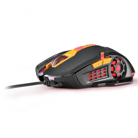 Mouse Gamer Dpi 2400 Multilaser Preto e Laranja