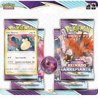 Pokémon Blister Quadruplo Reinado Arrepiante Snorlax - Copag