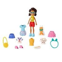 Boneca Polly Pocket Kit Viagem Moderna Da Shani - Mattel