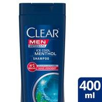Shampoo Clear Men Anticaspa Ice Cool Menthol 400ml