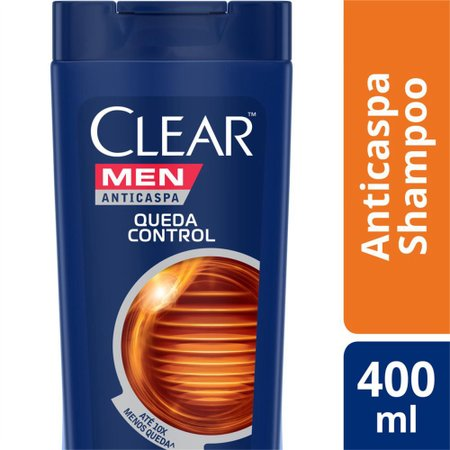 Kit 6 Shampoos Clear Men Anticaspa Queda Control 400ml