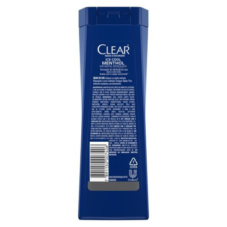 Kit 6 Shampoos Clear Men Anticaspa Ice Cool Menthol 200ml