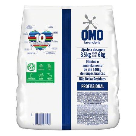 Detergente em Pó Sem Perfume Omo Profissional Perfect White Rende 60 Lavagens 3,5kg