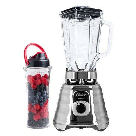 Kit New Osterizer Prata - Liquidificador e Jarra Blend N Go