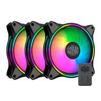 Kit Ventoinhas Cooler Master Masterfan MF120 Halo RGB 3x120mm + Controladora, MFL-B2DN-183PA-R1