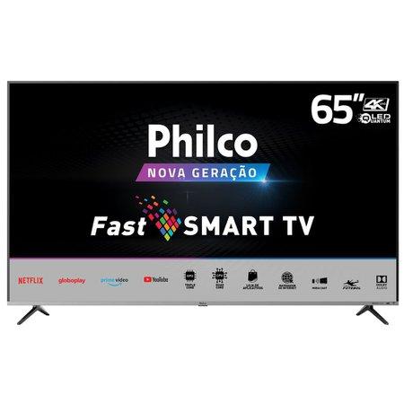 "Smart TV Philco 65"" PTV65F82SSG 4K QLED - Netflix"