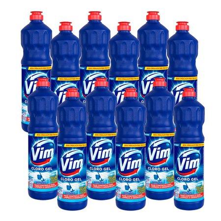 Kit 12 Desinfetantes Vim Multiuso Cloro Gel Original 700ml