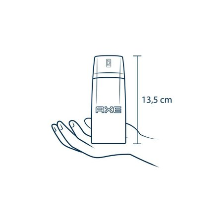 Kit 6 Desodorante Antitranspirante Aerosol Seco Axe Black 152ml