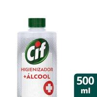 Refil Higienizador + Álcool Cif Líquido 500ml