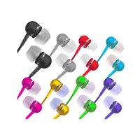 Fone de ouvido estéreo tipo earphone com isolamento acústico Pink