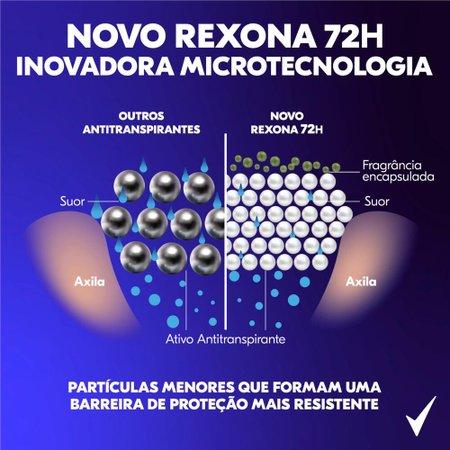 Kit com 3 Desodorantes Antitranspirantes Aerosol Masculino Rexona Impacto 72 horas 150ml