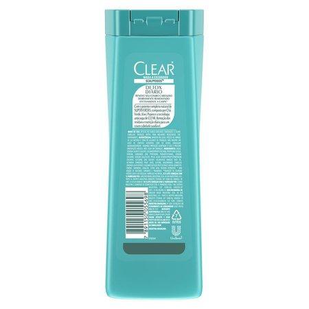 Kit 6 Shampoos Anticaspa Clear Detox Diário 200ml