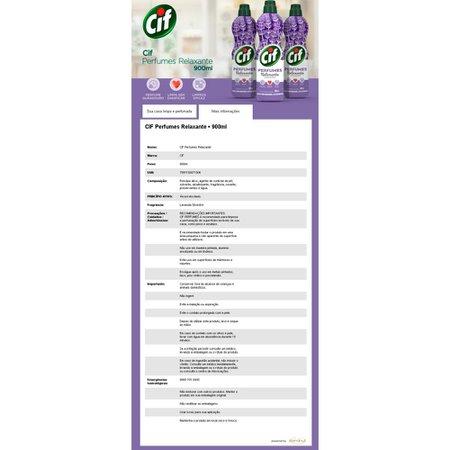 Kit 4 Limpadores Uso Geral Cif Relaxante Perfumes 900ml
